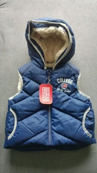 Sudadera con cremallera azul y gris The North Face Palma, 07008