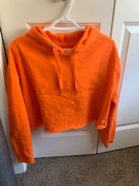 Orange cropped hoodie  Calgary