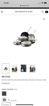 All clad pot set