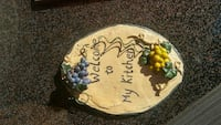 oval log and grapes ornament