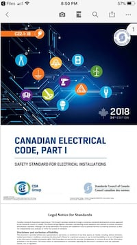 2018 Canadian Electrical Code PDF ONLY Toronto, M9V 2Y2