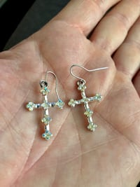 Earrings with iridescent Austrian crystals Surrey, V4N 0L4
