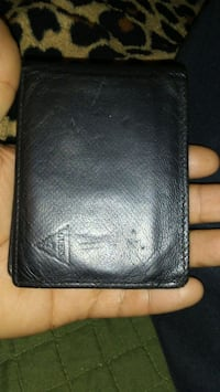 black Guess leather bifold wallet