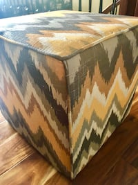 Ottoman - yellow and gray, fabric Clive, 50325