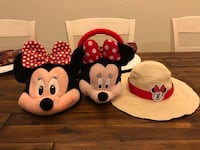 Disney world/ Disney store Minnie Mouse Authentic Park hat with matching purse and sun hat all fit toddler sizes all in excellent condition. $15 for all only selling as a set Wellington, 33414