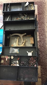 Black tool Box and and all the bits on other photo r together  Saskatoon, S7J 0J8