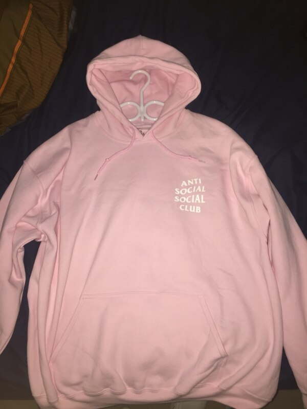 37ce915fb385 Used Pink anti social social club hoodie XL for sale in Coquitlam - letgo