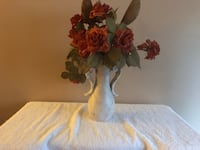 "Vase and faux flowers. Vase approx 9.5"" tall Surrey, V3V 7L9"