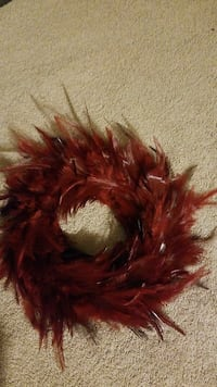 brown feather wreath