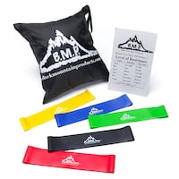 Black Mountain Products Loop Resistance Exercise Bands with  Toronto