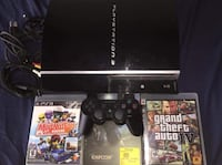 Black Ps3 console with controller Burnaby, V5B 4Z3