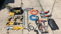 Assorted power tools and power tools