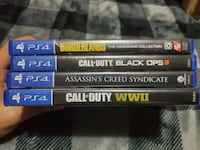 PS4 GAMES $15 each or $50 for all