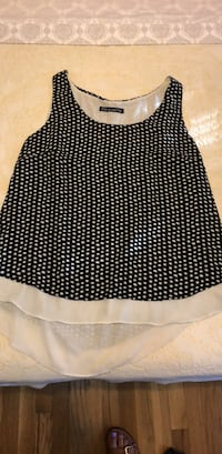 black and white polka-dot skirt 24 km