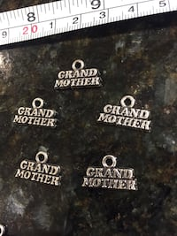 5 grand mother pcs lot DIY charms for jewelry making art crafts shower