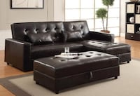 KLIK KLAK SOFA COUCH BED WITH STORAGE OTTOMAN-ROXANNE Toronto