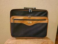 Shuttle Gray Brown Business Laptop Suitcase