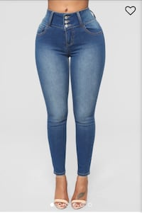 Fashion Nova dark wash jeans  Edmonton, T5Y 0E3
