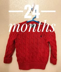 red and white knitted sweater Cypress, 90630