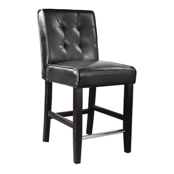 1 CorLiving Counter Height Barstool in Bonded Leather