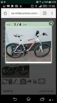 captura de pantalla white hardtail bike