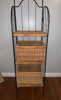 Pier one shelving with baskets