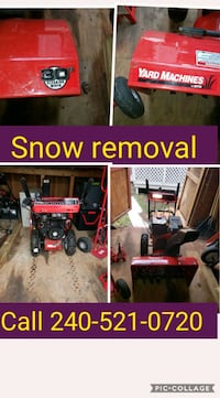 red and black snow blower Capitol Heights, 20743