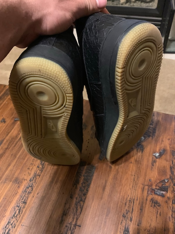 f53e3d3c7bf Used Black snake skin airforce ones size 11.5 for sale in Columbia - letgo