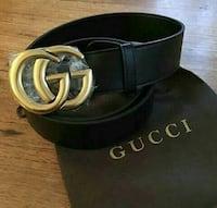 black Gucci leather belt with box Queens, 11412