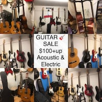 Guitar Sale $100+up over 25 guitars acoustic & electric New Westminster, V3M 1E8