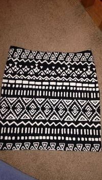 black and white tribal pattern pencil skirt