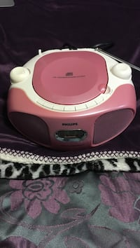 pink and white Philips stereo CD player system Brant, N0J