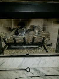 Ceramic log with gas insert for natural gas firepl Atlanta