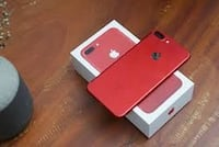 Produkt rot iPhone 7 plus mit Box