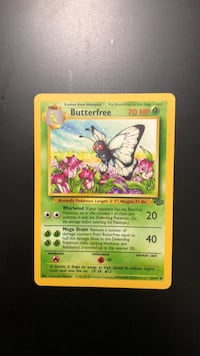 Butterfree Jungle Set 33/64 Pokémon Card Oakville, L6H 5N3