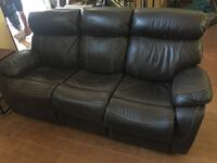 black leather 3-seat sofa San Bernardino, 92376