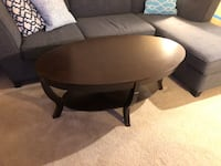Round brown wooden coffee table Arlington, 22201