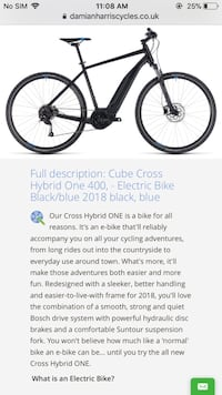 CUBE CROSS HYBRID ONE 400 E BIKE