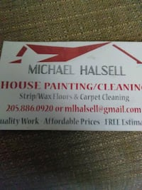 stripping and wax painting, clean carpet Tuscaloosa, 35401