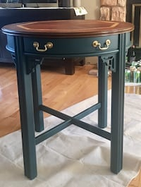 Beautiful round end table with natural wood finish   Oakton, 22124