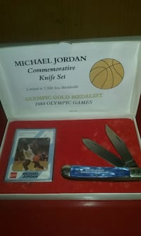 1984, Olympics Michael Jordan card and pocket knif