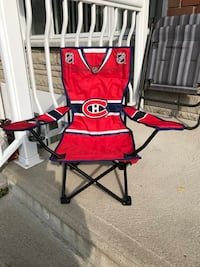 red and black camping chair Montréal, H1R 1X4