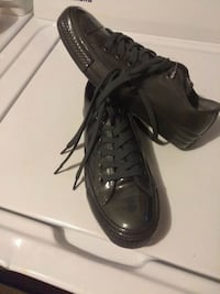 pair of black leather high-top sneakers San Francisco, 94110