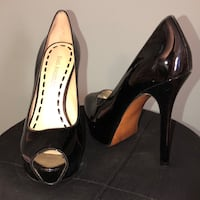 pair of black peep-toe platform stilettos New York, 10006