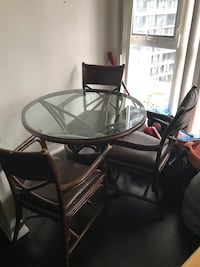 3 piece chair set with glass table  Toronto, M5V 3Z6