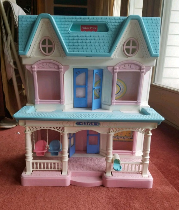 1993 Vintage 2 Story Fisher Price Dream Doll House Usage A Vendre A