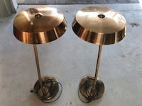 Side table lamps. Copper finish Toronto, M9R 2P1