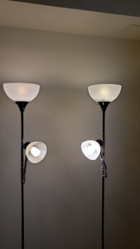 Two floor lamps and 4 bulbs HERNDON
