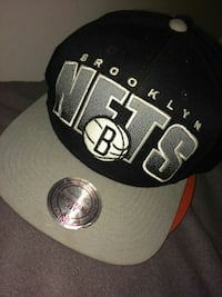 black and grey Brooklyn Nets snapback