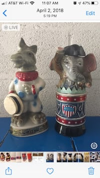 JIM BEAM POLITICAL DECANTERS